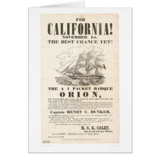 """For California!...""""Orion"""" Advertisement (1281A) Card"""