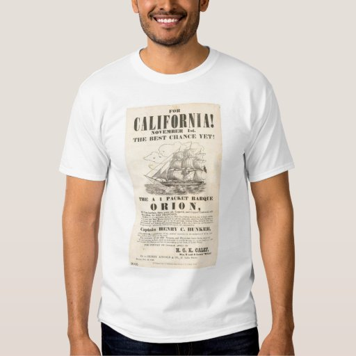 """For California!...""""Orion"""" Advertisement (1281A) T-shirt"""
