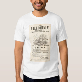"For California!...""Orion"" Advertisement (1281A) Tee Shirt"