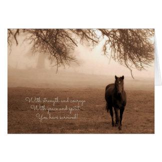 for Cancer Survivor Sentimental Horse Card