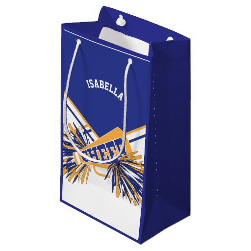 For Cheerleaders  - White, Blue and Gold - Small Small Gift Bag