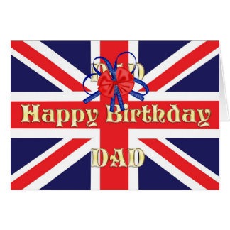 For dad, a Birthday card with a Union Jack