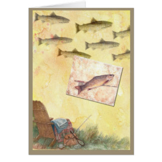 FOR DAD BIRTHDAY POEMS TROUT FISHING GREETING CARD