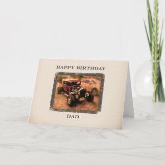 For Dad Classic Car Themed Birthday Card