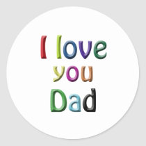 For Dad Classic Round Sticker