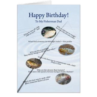 For dad, Fishing jokes birthday card