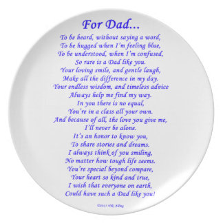 For Dad Melamine Plate