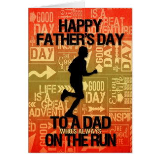 for Dad on Father's Day | Runner Sport Theme Card
