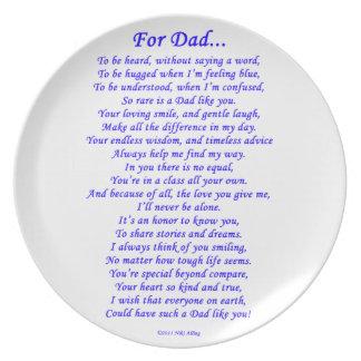 For Dad Poem Dinner Plates