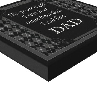 """For Dad - """"The Great Gift"""" - I Canvas Print"""