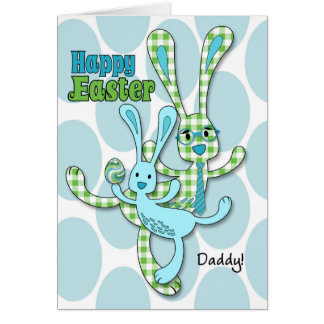 for Daddy on Easter - in Blue from Son Card