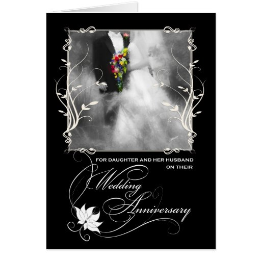 For Daughter and Husband Wedding Anniversary Card Zazzle