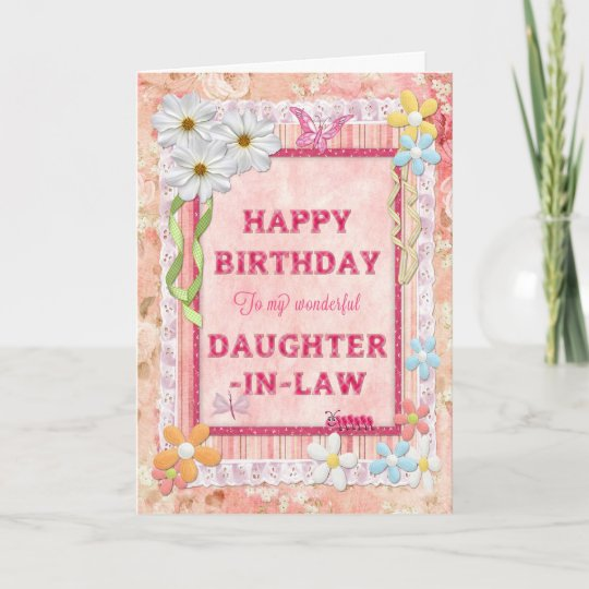 For Daughter In Law Craft Birthday Card
