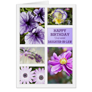 For Daughter-in-Law, Lavender floral birthday Card