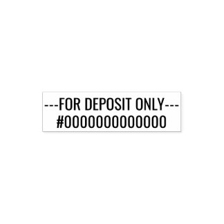 For Deposit Only - 2 Lines Sans Serif Font Pocket Stamp