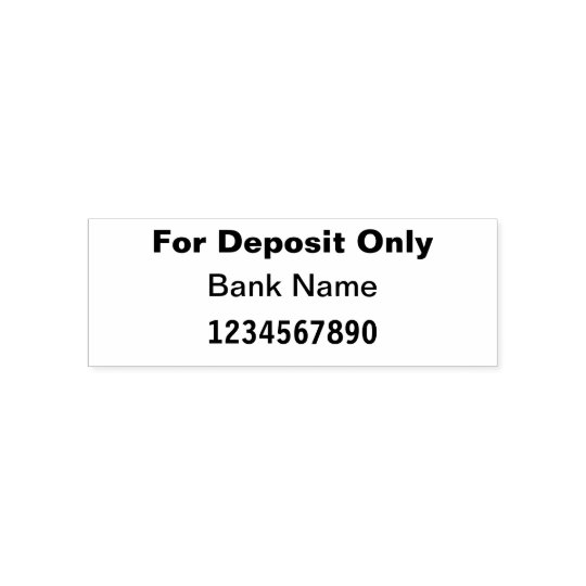 For Deposit Only Bank Check Self Inking Stamp