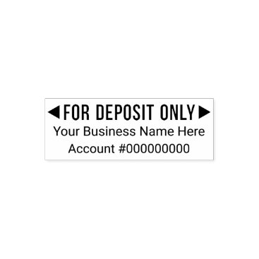 Professional Business For Deposit Only - Basic Business Office 3 Lines Self-inking Stamp