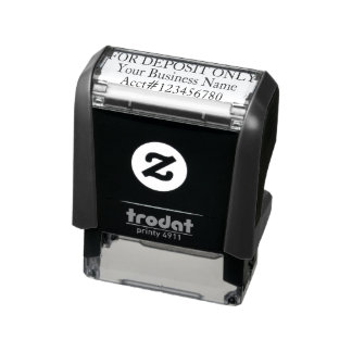 For Deposit Only Custom Business Account Bank Self-inking Stamp