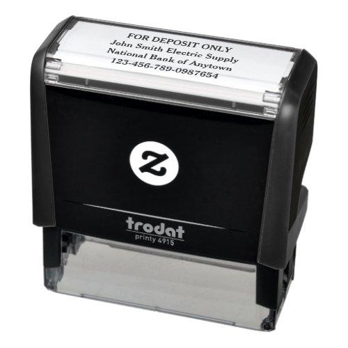 For Deposit Only Custom Self-inking Stamp