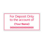 "[ Thumbnail: ""For Deposit Only to The Account Of"" Rubber Stamp ]"