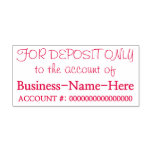 """[ Thumbnail: """"For Deposit Only to The Account Of"""" Rubber Stamp ]"""