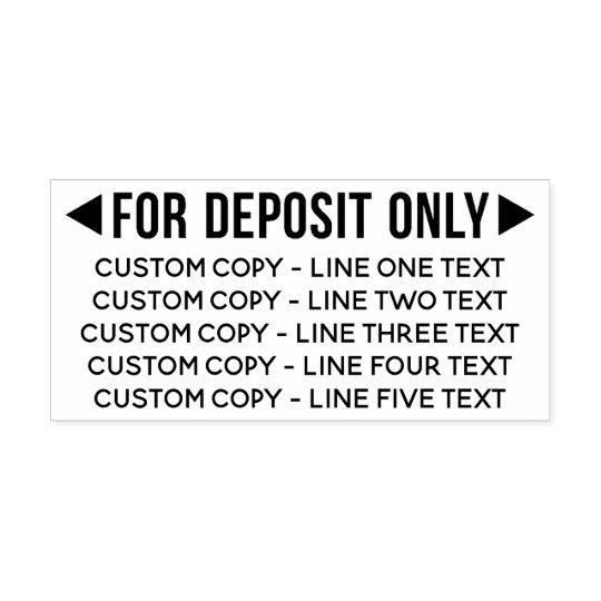 For Deposit Only With 5 Lines Of Text Self Inking Stamp