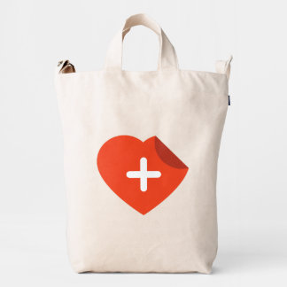 For Doctors and Nurses. Medical Heart. Duck Bag