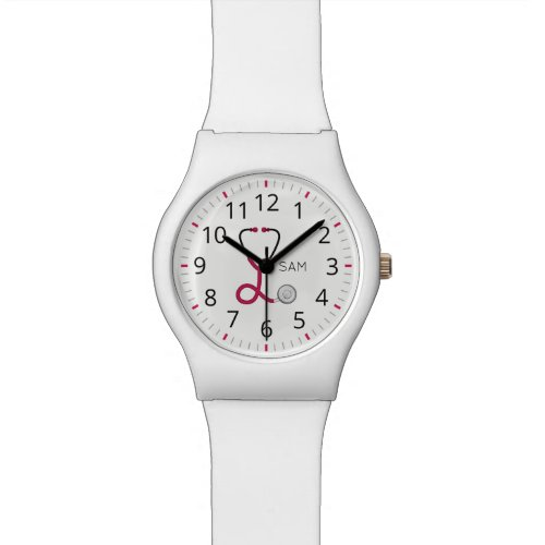 For Doctors and Nurses Pink Medical Stethoscope Watch