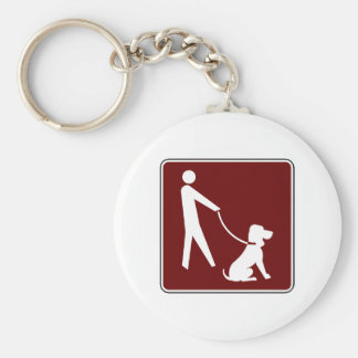 For Dog's and Their Walkers! Basic Round Button Keychain