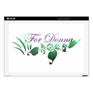"For Donna 17"" Laptop Skin"