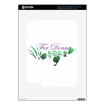 For Donna iPad 3 Decal