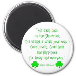 For each petal on the shamrock... magnet