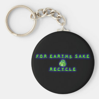 For Earht's Sake, Recycle Keychain