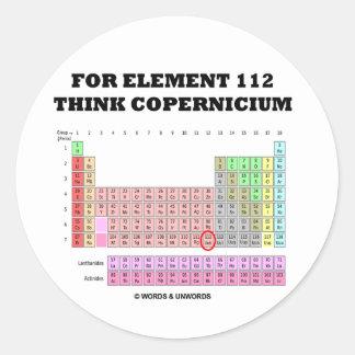 For Element 112 Think Copernicium Stickers