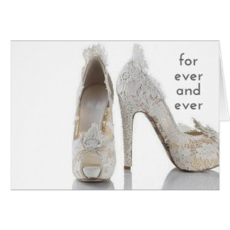 For ever and ever wedding card