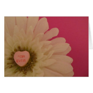 For Ever Conversation Heart Greeting Card