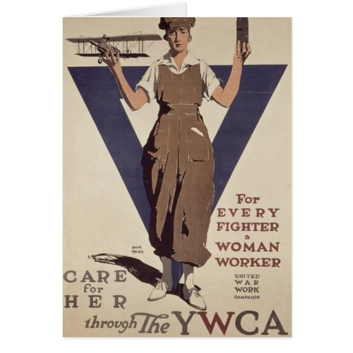 For Every Fighter a Woman Worker Greeting Card