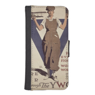 For Every Fighter a Woman Worker iPhone SE/5/5s Wallet