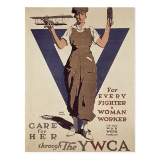 For Every Fighter a Woman Worker Postcard
