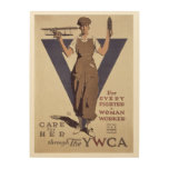 For Every Fighter a Woman Worker Wood Wall Art