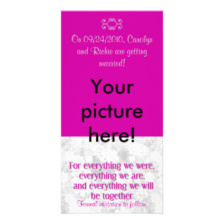 For Everything - Photo Save the Date Card - Berry