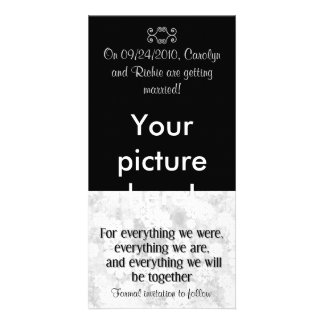For Everything - Photo Save the Date Card - Black