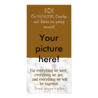 For Everything - Photo Save the Date Card - Brown