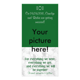 For Everything - Photo Save the Date Card - Green