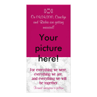 For Everything - Photo Save the Date Card - Maroon