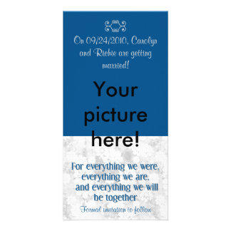 For Everything - Photo Save the Date Card - Navy