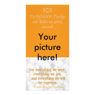 For Everything - Photo Save the Date Card - Orange