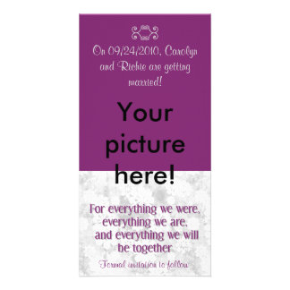 For Everything - Photo Save the Date Card - Purple