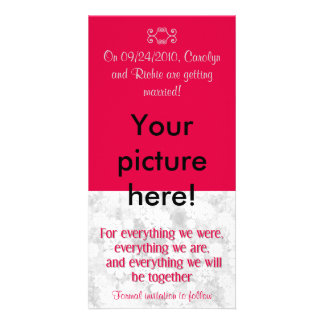 For Everything - Photo Save the Date Card - Red