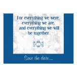 For Everything - Save the Date Card - Orange Custom Announcement